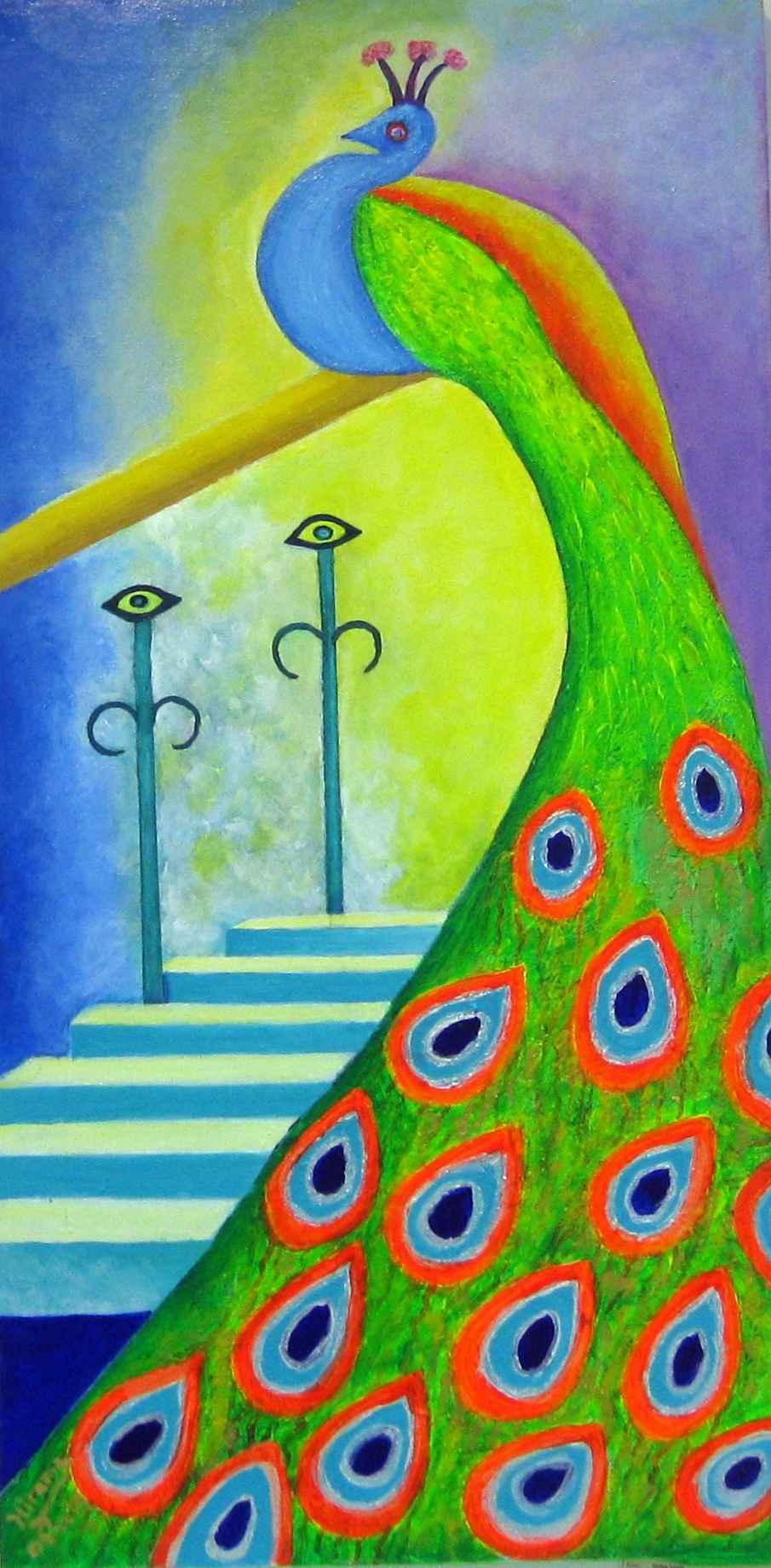 Peacock Portal 1 by Ms Malva Lewis - Masterpiece Online