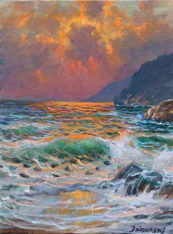 Californian Sunset by  A Dzigurski II - Masterpiece Online