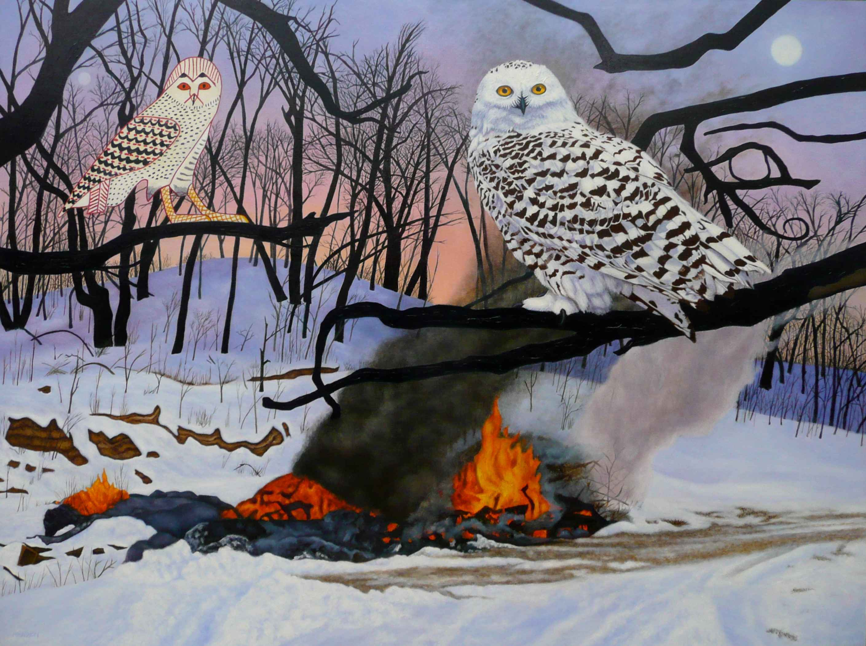Fire in the Snow by  Valerie Mangion - Masterpiece Online