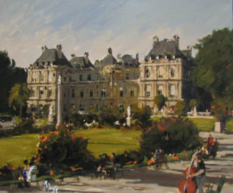 Afternoon at the Park by  Louis  Magre - Masterpiece Online