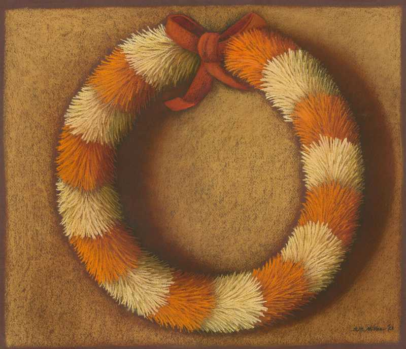 Round Feather Lei 1 by  Shelley S. M. Miller - Masterpiece Online