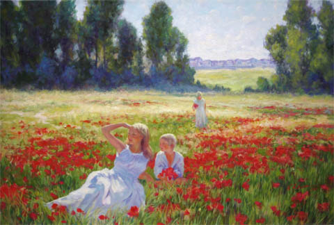 Among the Poppies by  Kevin  Albert  - Masterpiece Online