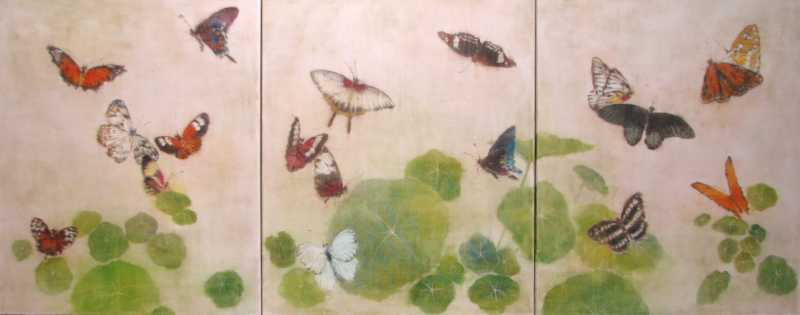 Far East: Butterflies by  Karen Goins - Masterpiece Online