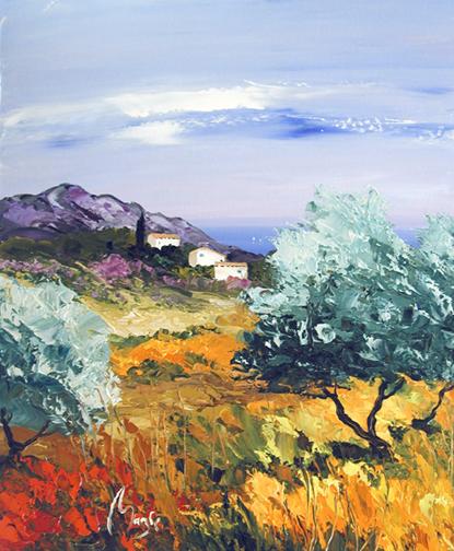 La Lavendou by  Louis  Magre - Masterpiece Online