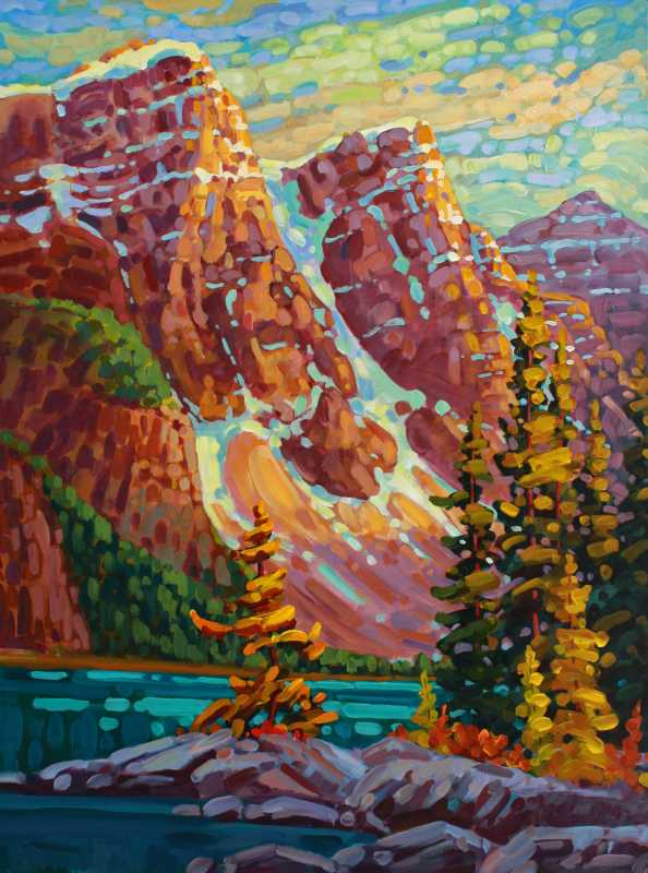 Alpenglow - Moraine L... by  Ken Gillespie - Masterpiece Online