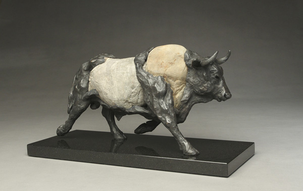 Running Bull by  Pete Zaluzec - Masterpiece Online