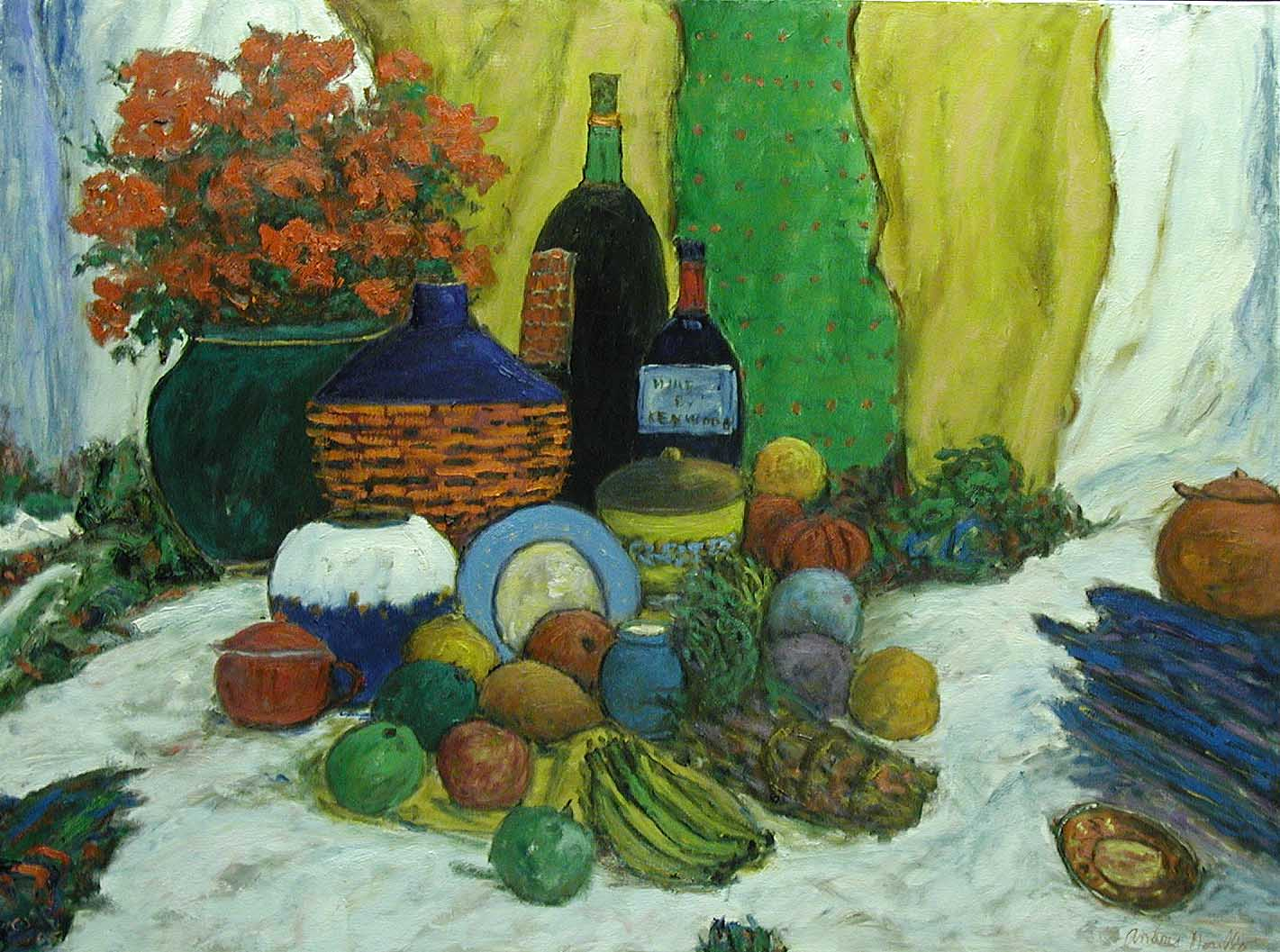 Still Life with Flowe... by  Andres  Morillo - Masterpiece Online
