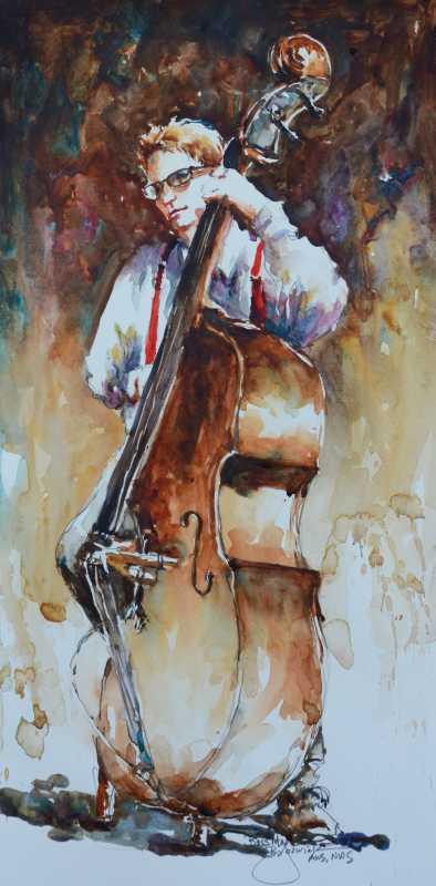 Bass Man  by  Bev Jozwiak