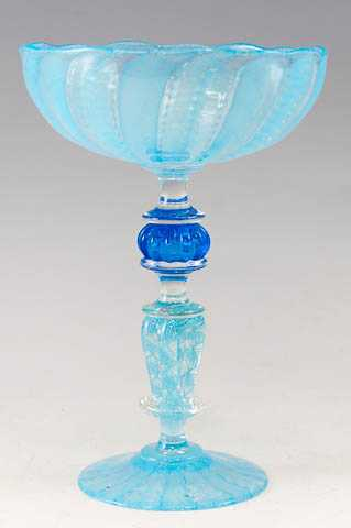 Goblet/Blue Cane by  Kenny Pieper - Masterpiece Online