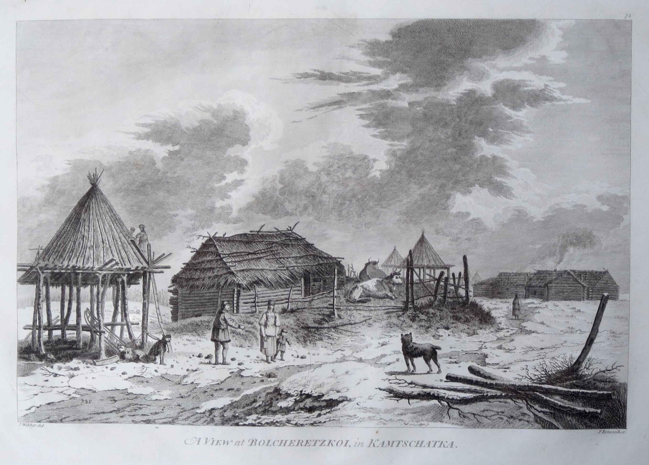 A View of Bolcheretzk... by  John Webber (1752-1793) - Masterpiece Online