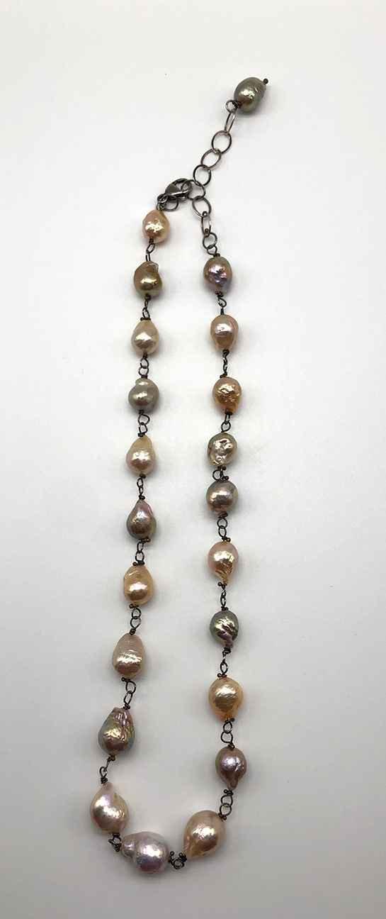 Large Natural Color Pearl Necklace