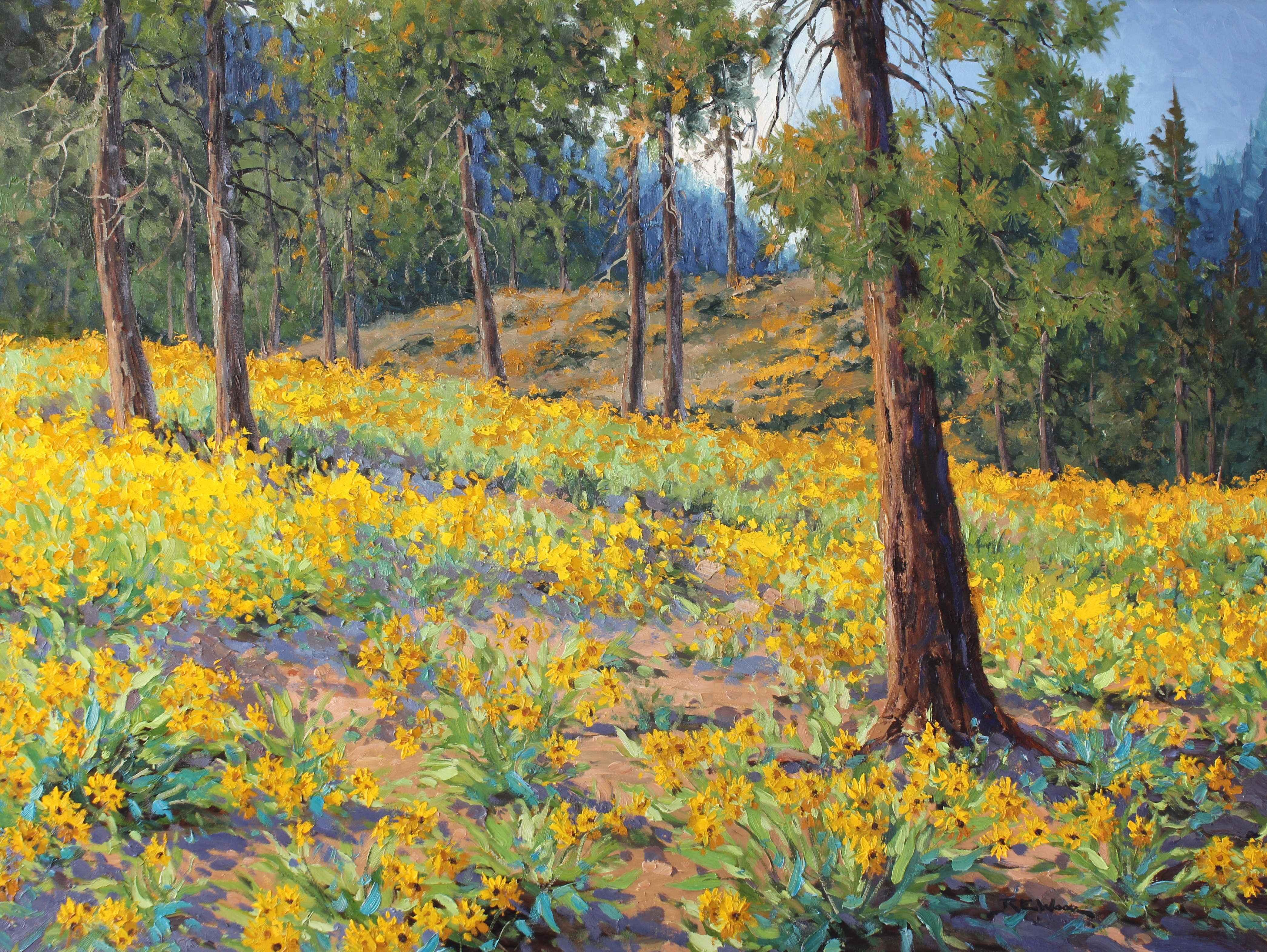 Okanagan Sunflowers by  Robert E. Wood - Masterpiece Online