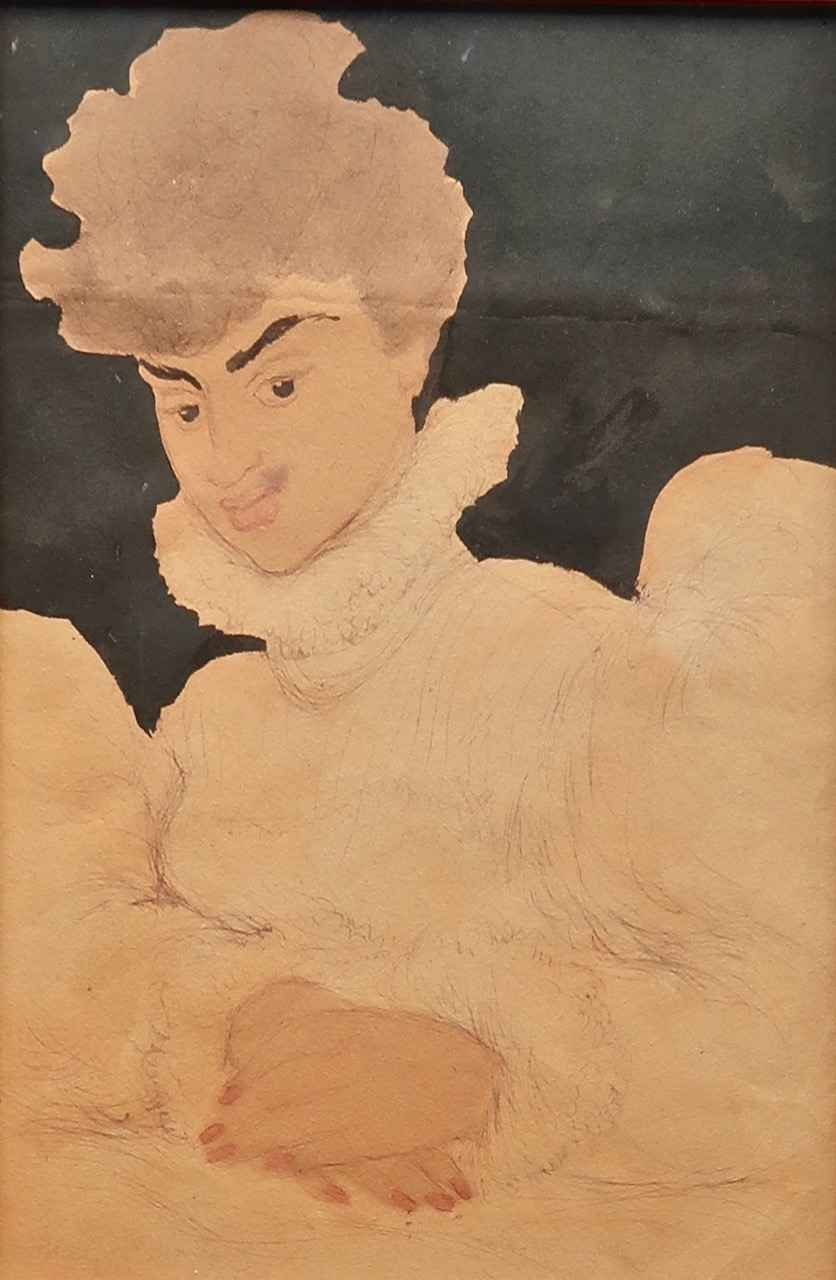 Lady in Holoku by  Madge Tennent (1889-1972) - Masterpiece Online