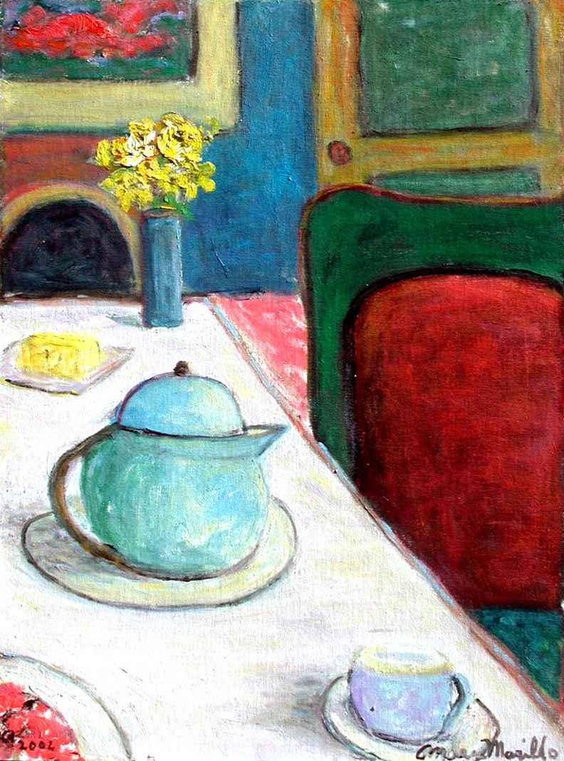 Table with Tea Pot by  Andres  Morillo - Masterpiece Online