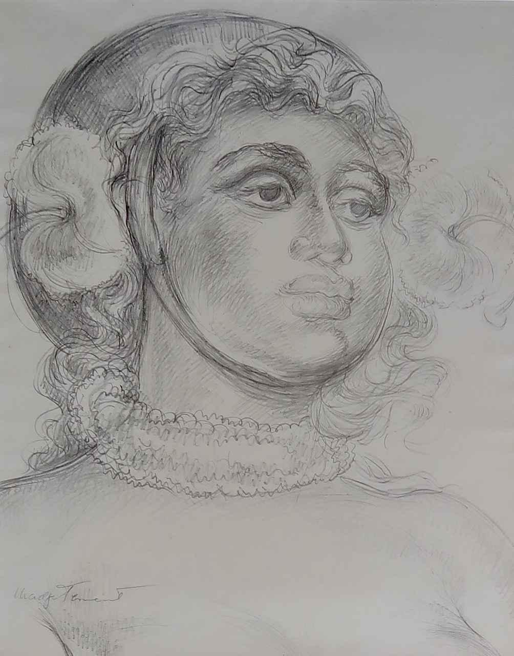 Hawaiian Woman in War... by  Madge Tennent (1889-1972) - Masterpiece Online