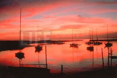Sunset at Menemsha Ha... by  Alfred Eisenstaedt - Masterpiece Online