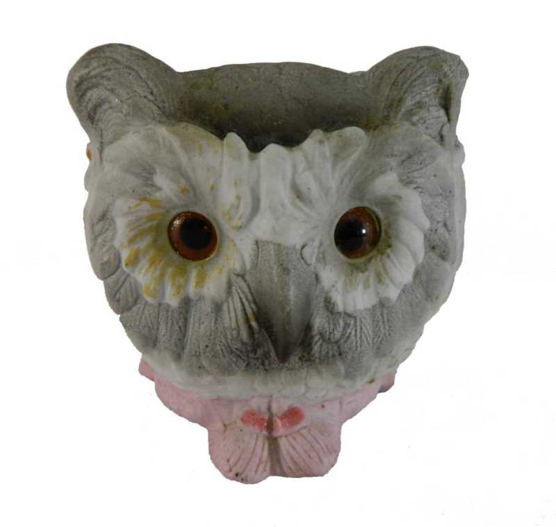 Bisque Owl Candle Lam...