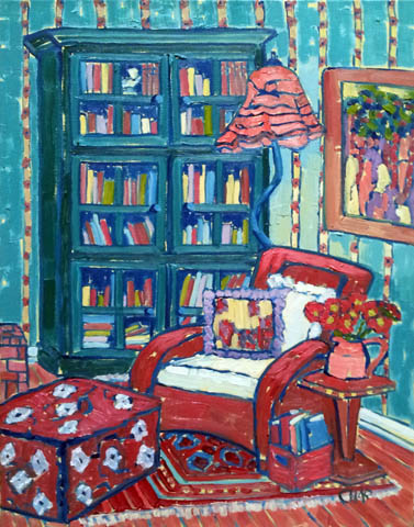 The Red Chair by  Char  Michelson  - Masterpiece Online