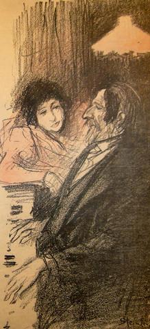 Steinlen gil blas con... by  Alexandre Theophil Steinlen - Masterpiece Online