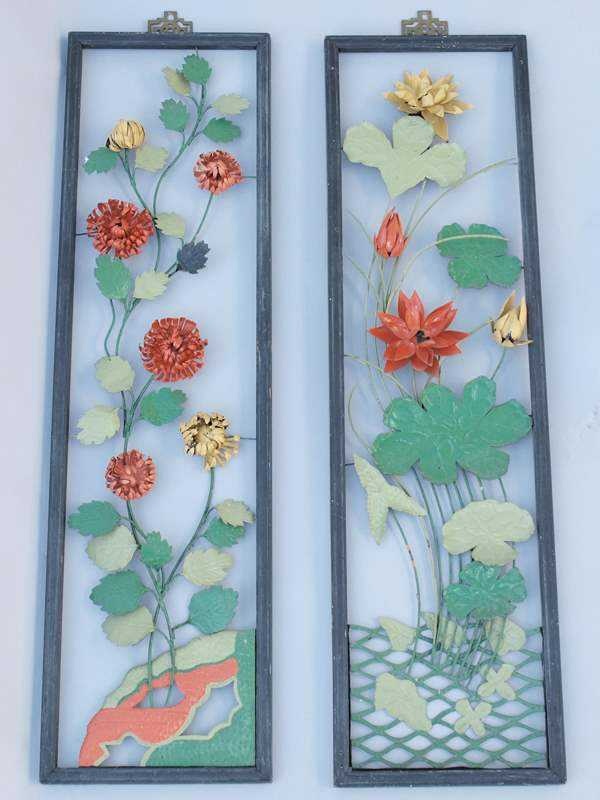 Pair of Framed Metal ... by  None None - Masterpiece Online