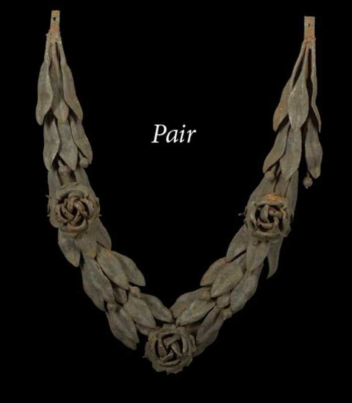 Pair of Iron Wreaths by  French  - Masterpiece Online
