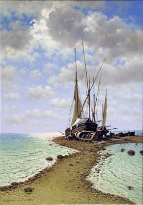 Making Repairs by  Vasily Gribennikov - Masterpiece Online