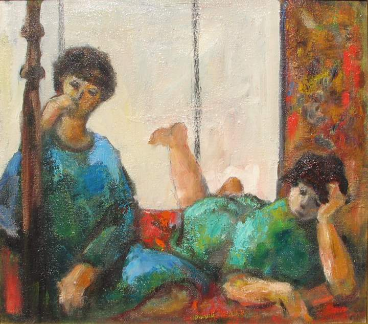Afternoon Conversation by  Tom Maley - Masterpiece Online