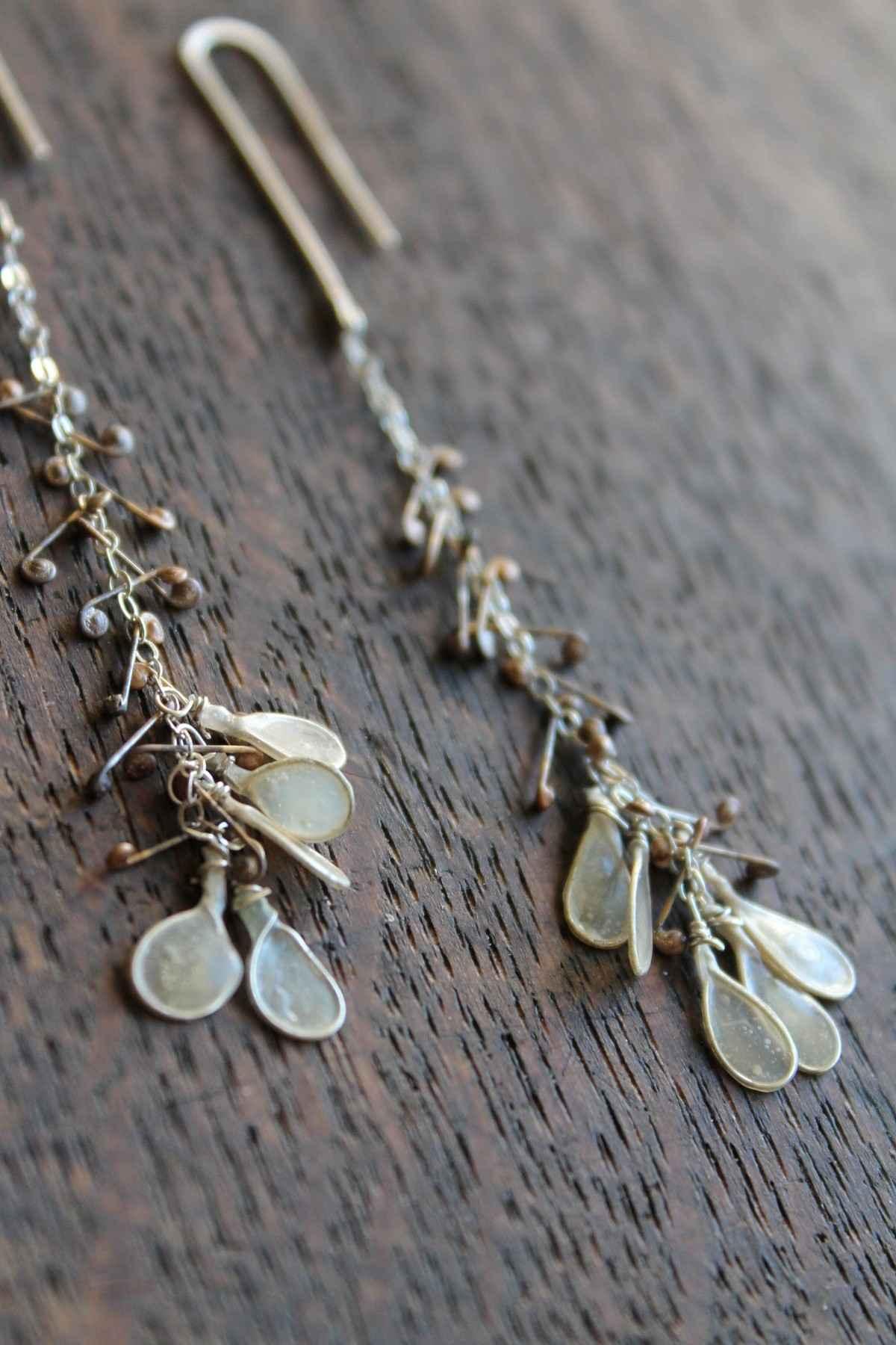 Frond Earrings, Detail