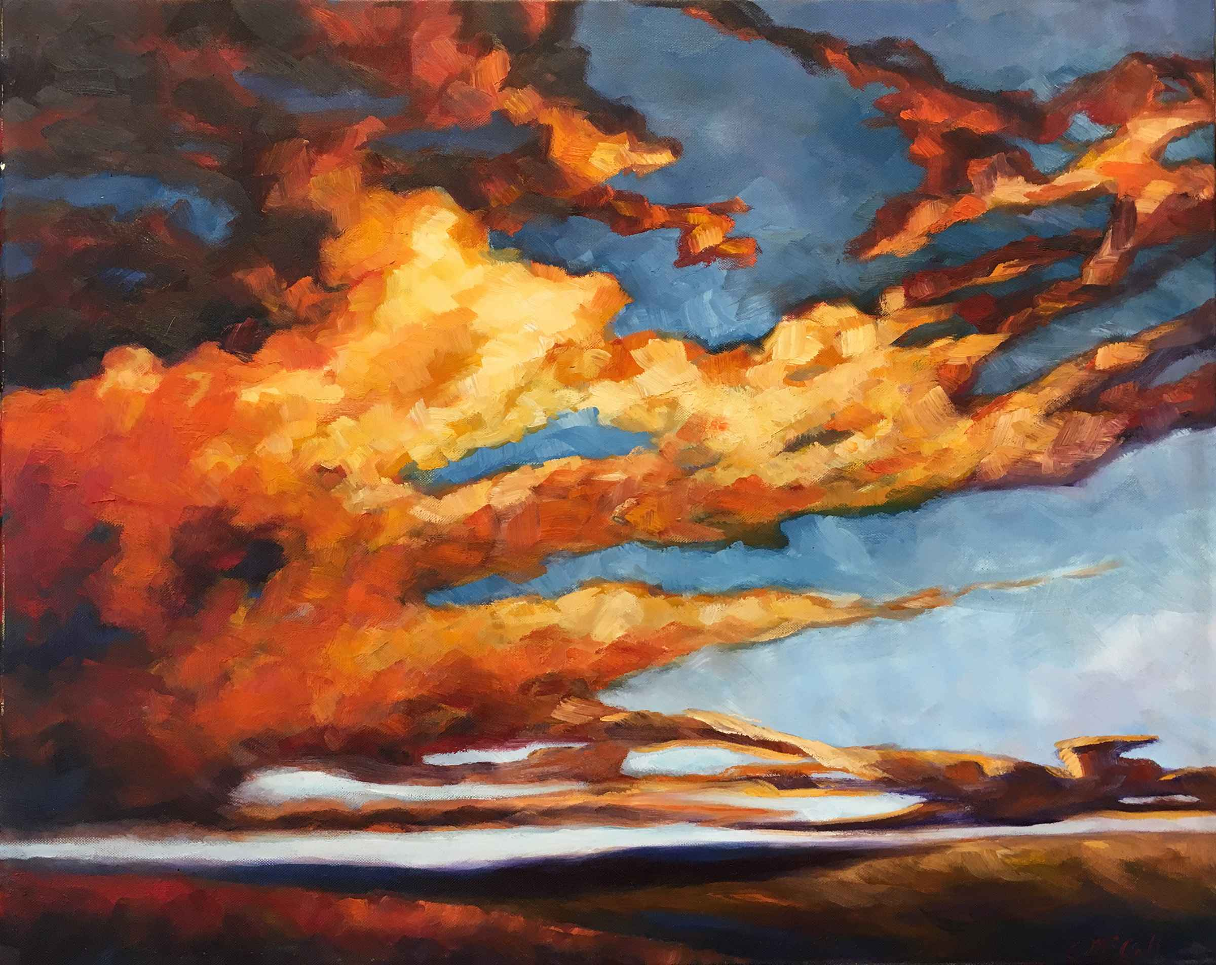 This is Flint Hills Golden Su... by  Carol McCall  art collection of SNW Gallery & Custom Frames represented by SNW Gallery & Custom Frames from Olathe, KS - Masterpiece Online