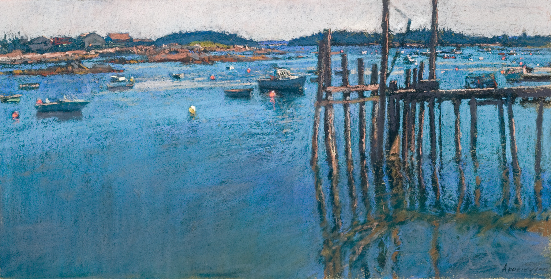 Stonington Harbor by  Daud Akhriev - Masterpiece Online