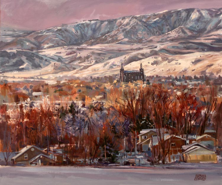 A NEW WORK- On A Cle... by  Barbara Summers Edwards - Masterpiece Online