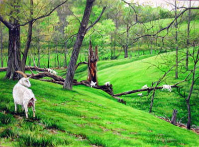 Goat Heaven - April by   Teresa  Wheeler - Masterpiece Online