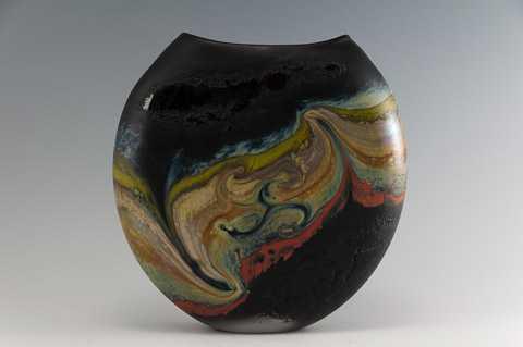 Black Jupiter Vase by  Jared & Nicole Davis - Masterpiece Online