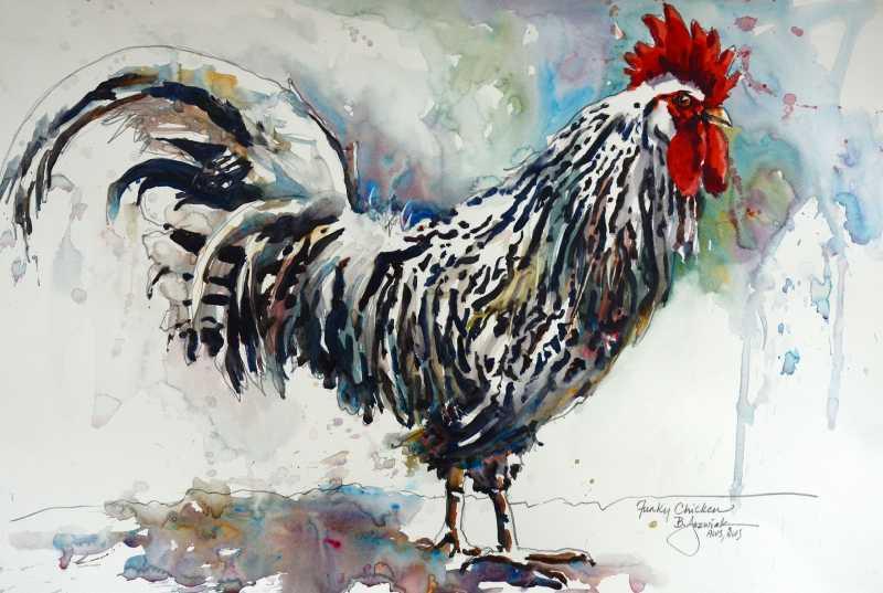 Funky Chicken by  Bev Jozwiak - Masterpiece Online