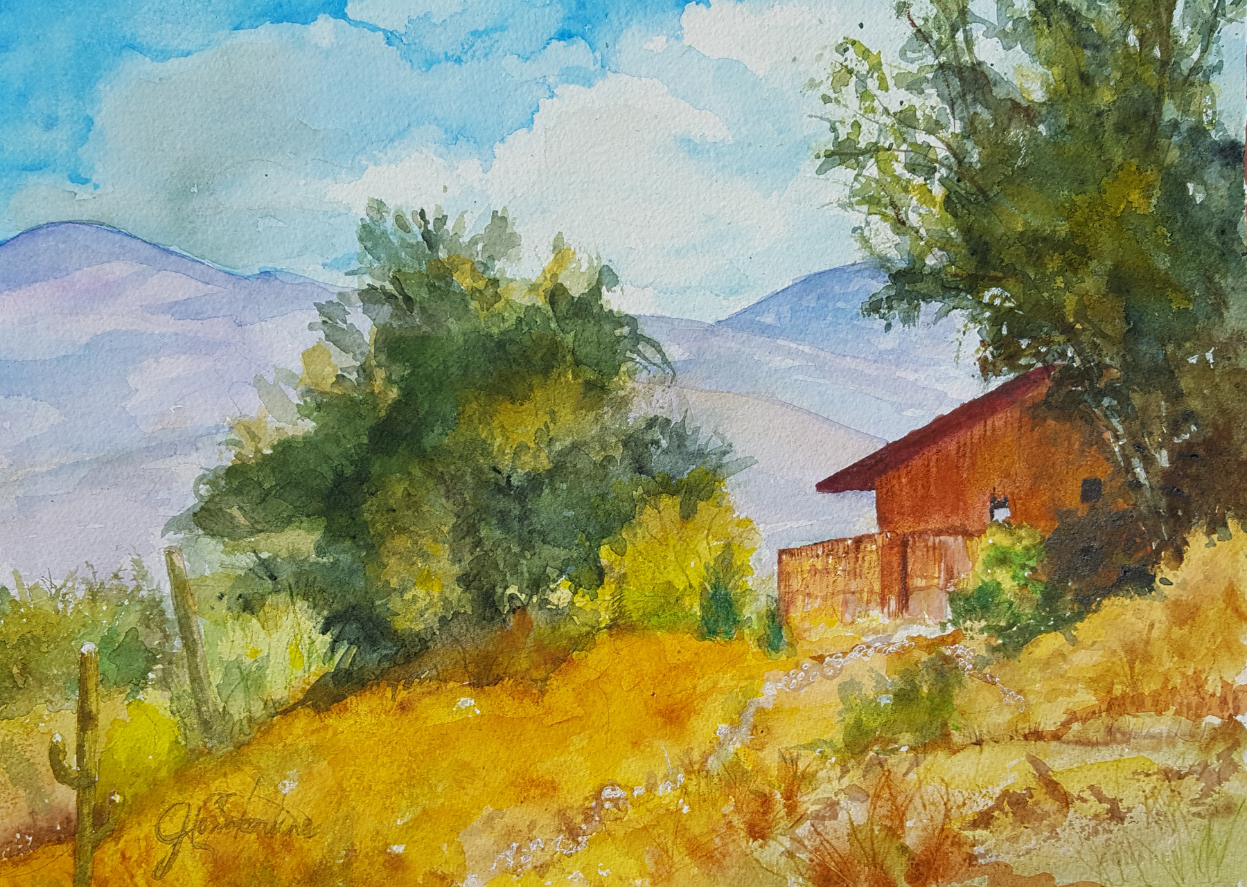 On the Edge of the Ca... by  Judy Constantine - Masterpiece Online