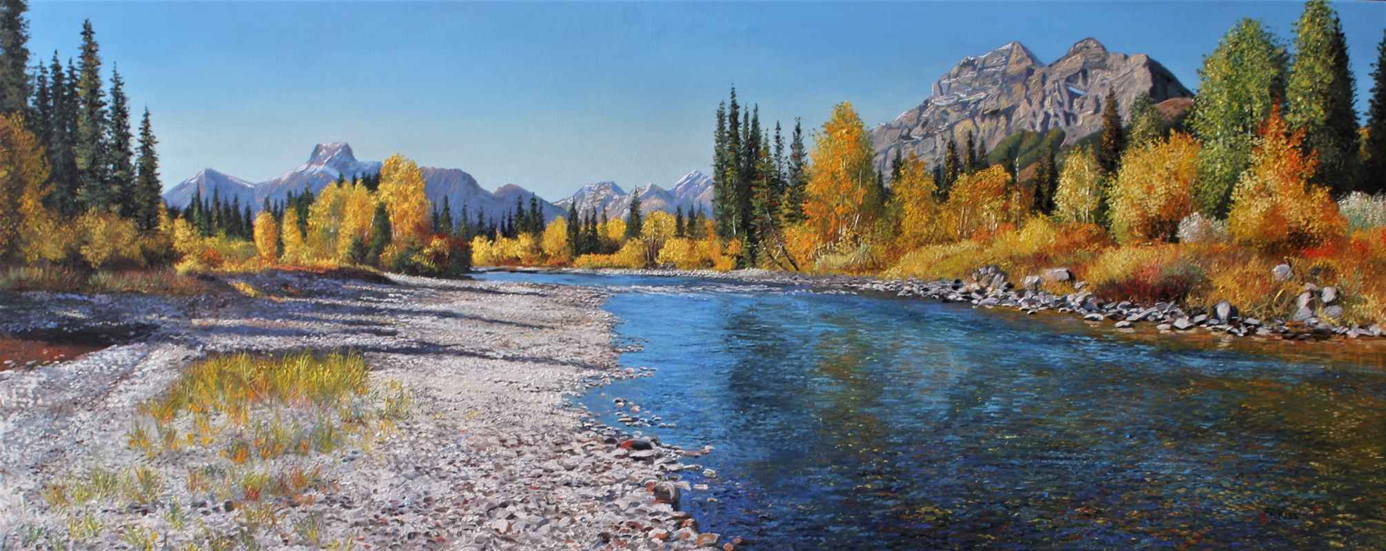 Kananaskis River Look... by  Andrew Kiss - Masterpiece Online