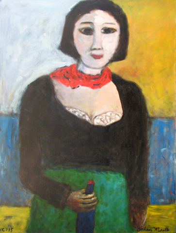 Red Scarf by  Andres  Morillo - Masterpiece Online
