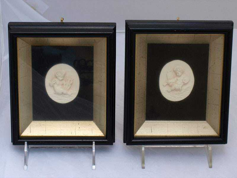 Pair of Framed Plaques by  Continental  - Masterpiece Online