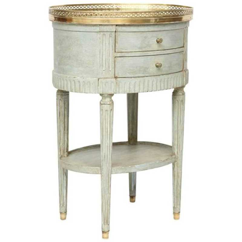 Oval Commode with Mir... by  French  - Masterpiece Online
