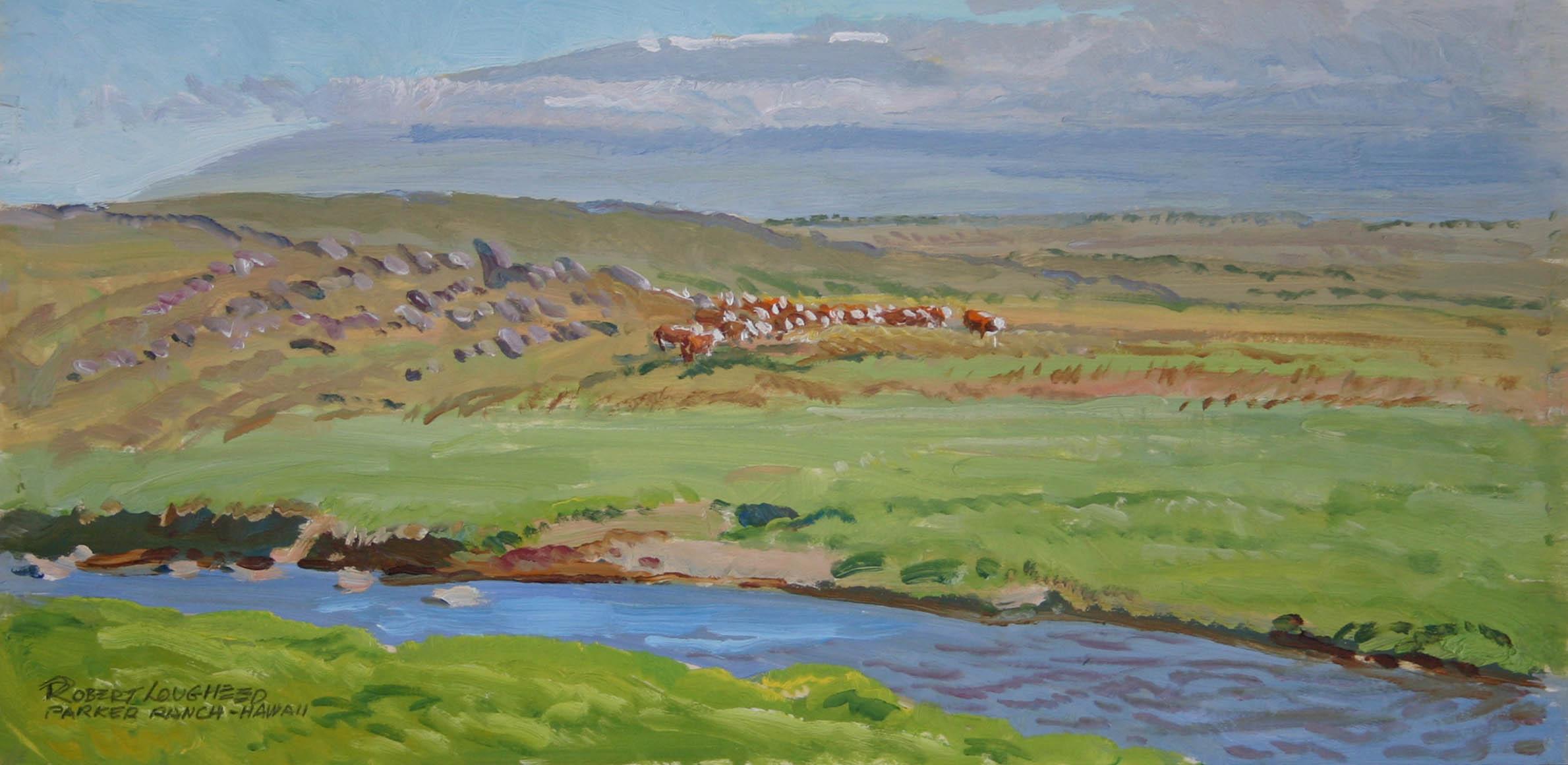 Stream on Parker Ranch by  Robert Lougheed - Masterpiece Online