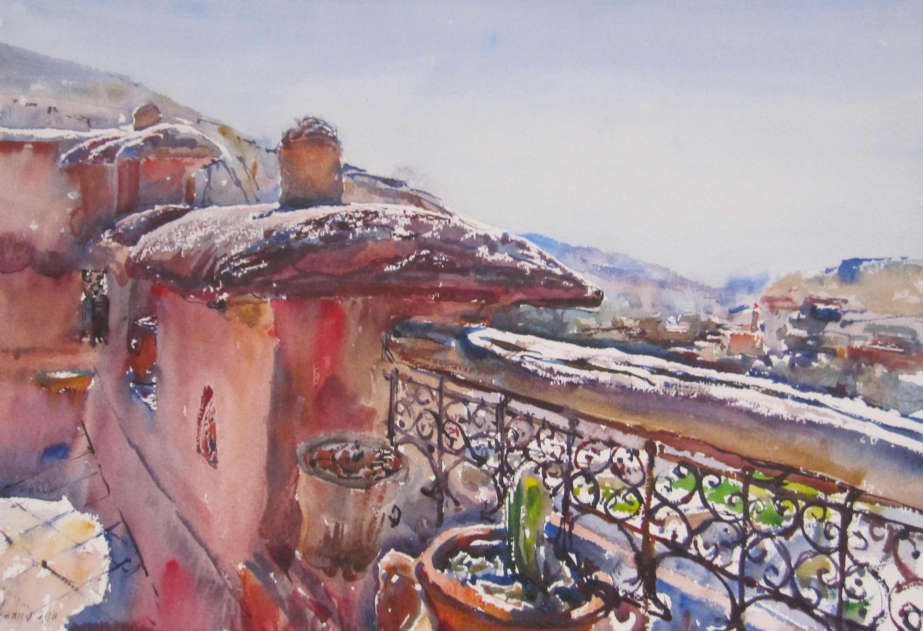 High Atlas Roof Deck by  Daud Akhriev - Masterpiece Online