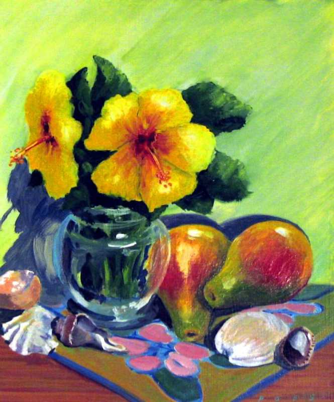 Still Life Yellow Flo... by  Nancy Poes - Masterpiece Online