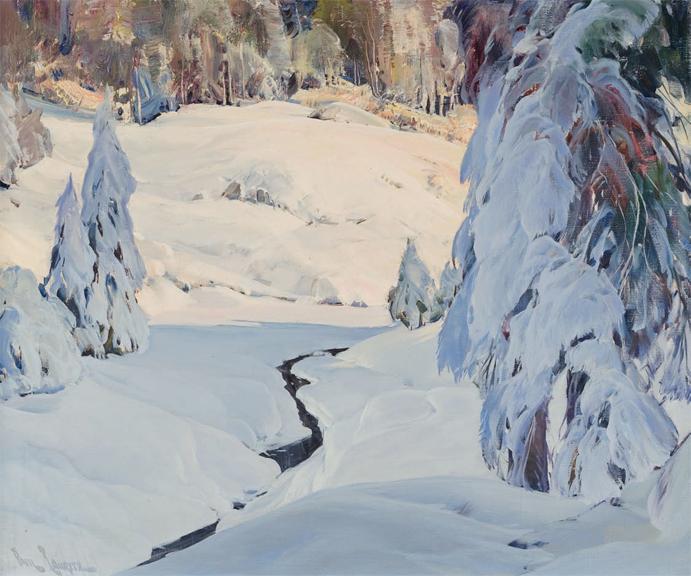 Meandering Stream Thr... by  Paul Lauritz - Masterpiece Online