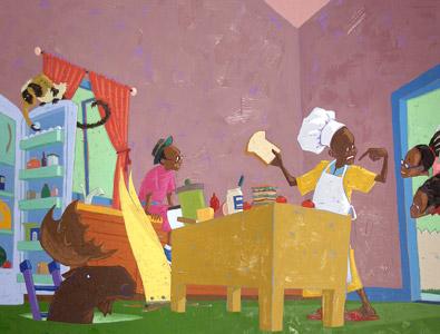 Moose In Kitchen by  Joe Cepeda - Masterpiece Online
