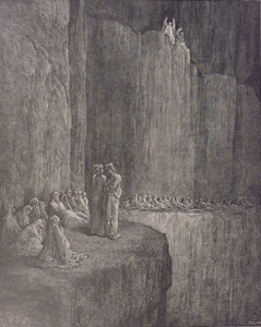 Amongst Us Here Aloft represented by  by  Gustave Dore