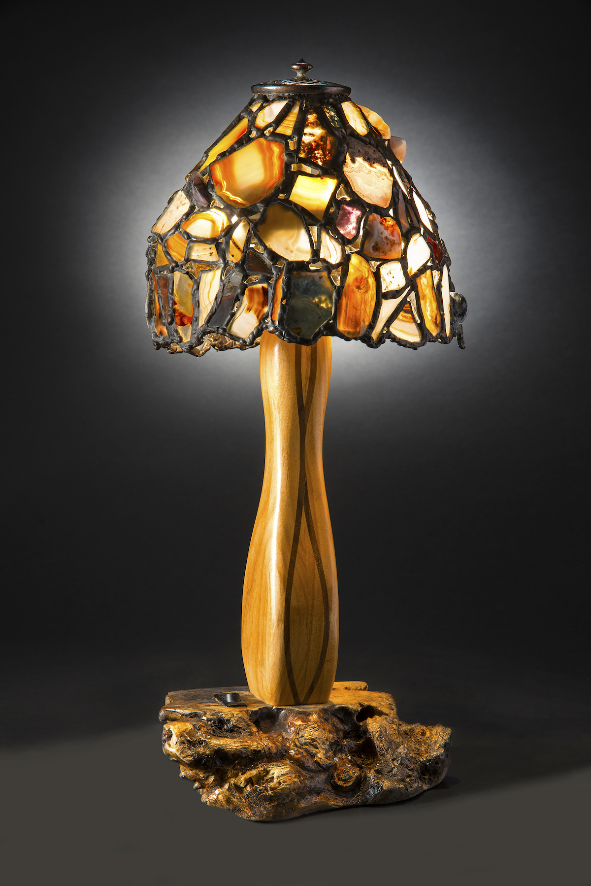 Small Agate Lamp on W... by  Jim Pape - Masterpiece Online