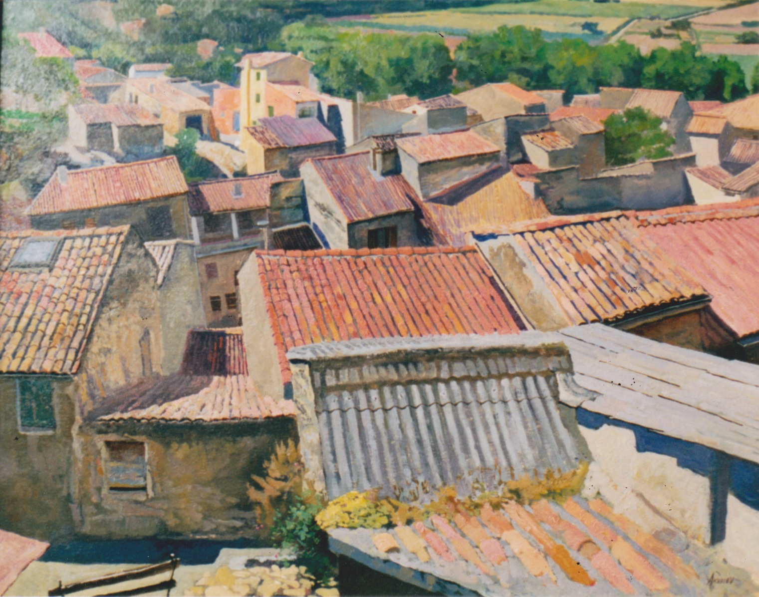 Rooftops, Vinon sur V... by  Daud Akhriev - Masterpiece Online