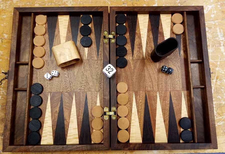 Backgammon Set by  David Keeber - Masterpiece Online