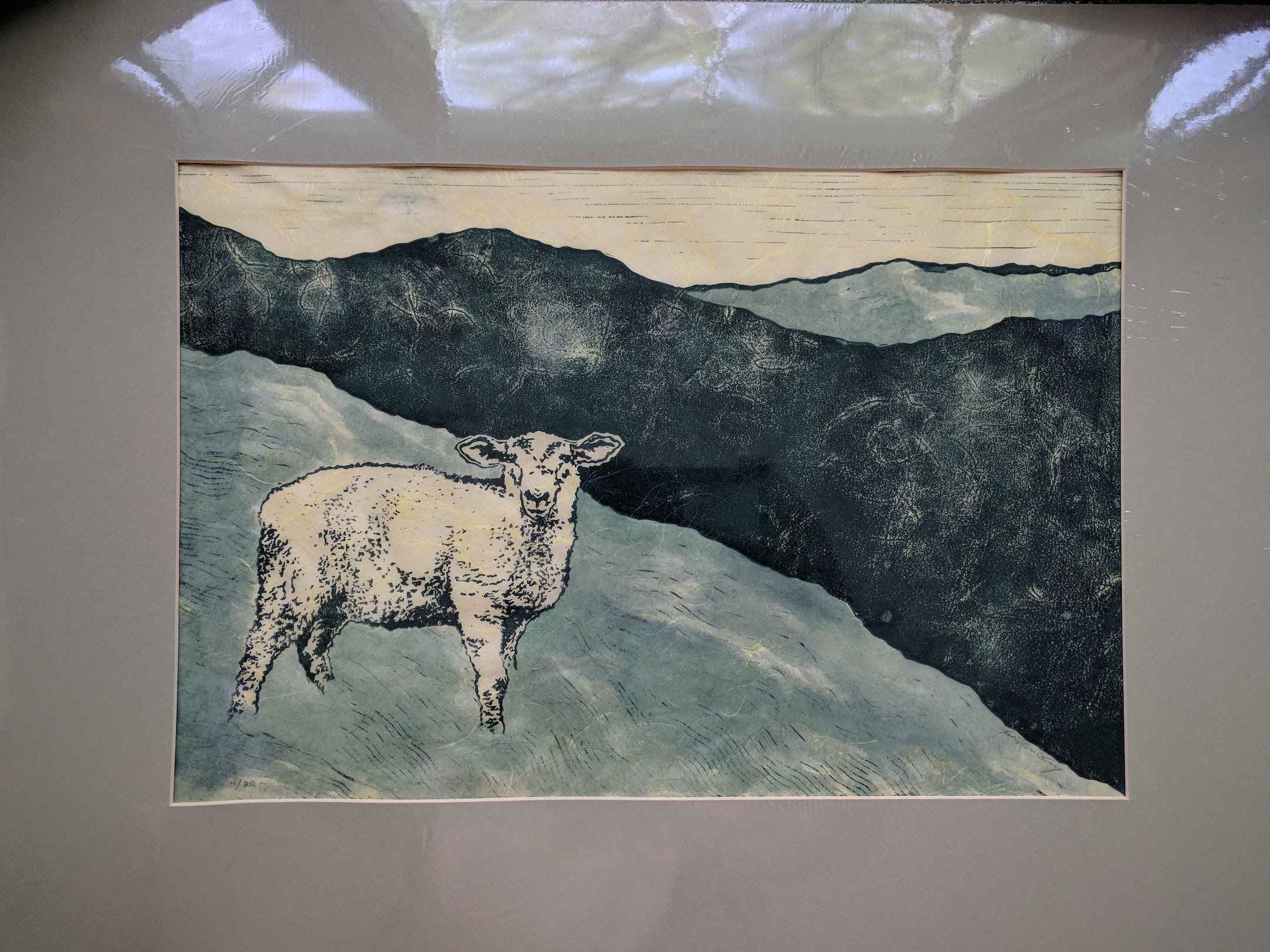 Lamb in Green (matted) by  Katherine Grey - Masterpiece Online