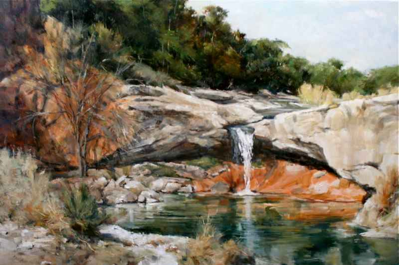 Falls on Red Creek by  John Austin Hanna - Masterpiece Online